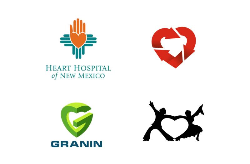 Сердце в логотипах
