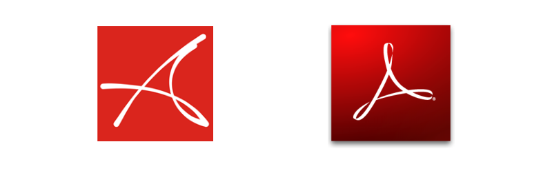 Старый логотип Akvis и логотип Adobe Reader.