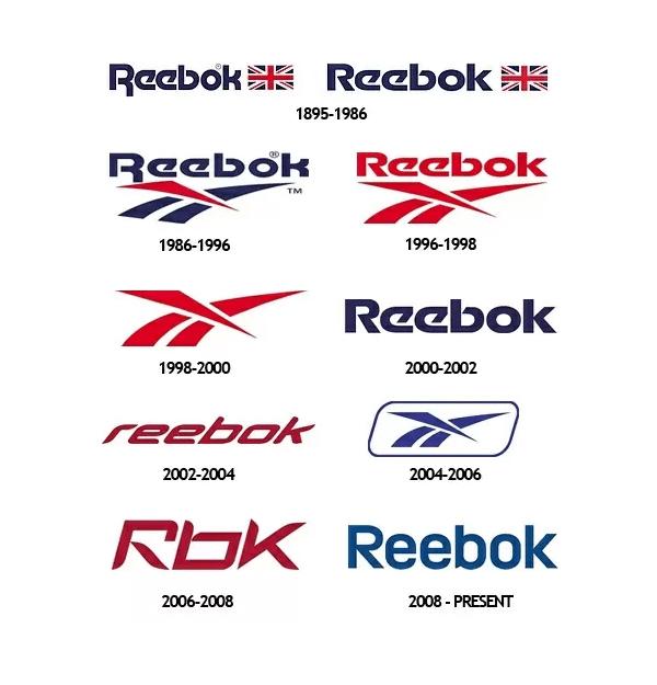 Изменения логотипа Reebok