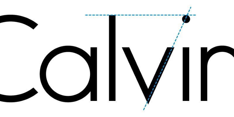 calvin klein деталь логотипа