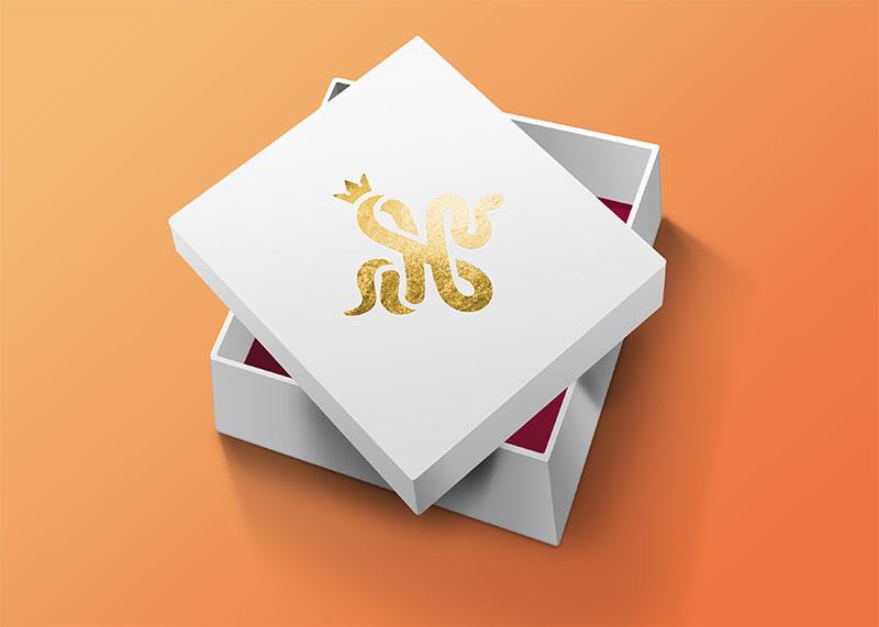Логотип ювелирной компании - коробка